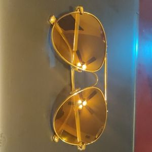 Tom Ford P C photo chromic gold plated aviators